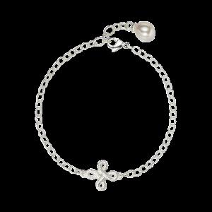 Brigitte Adolph Pique Dame Armband Pique Dame mit Perle in Silber 2723-AG-SW-1 bei Juwelier Triebel in Bamberg